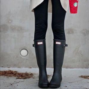 Matte Tall Hunter Boots Navy